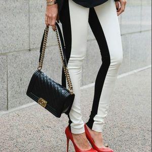 Club Monaco front faux leather leggings